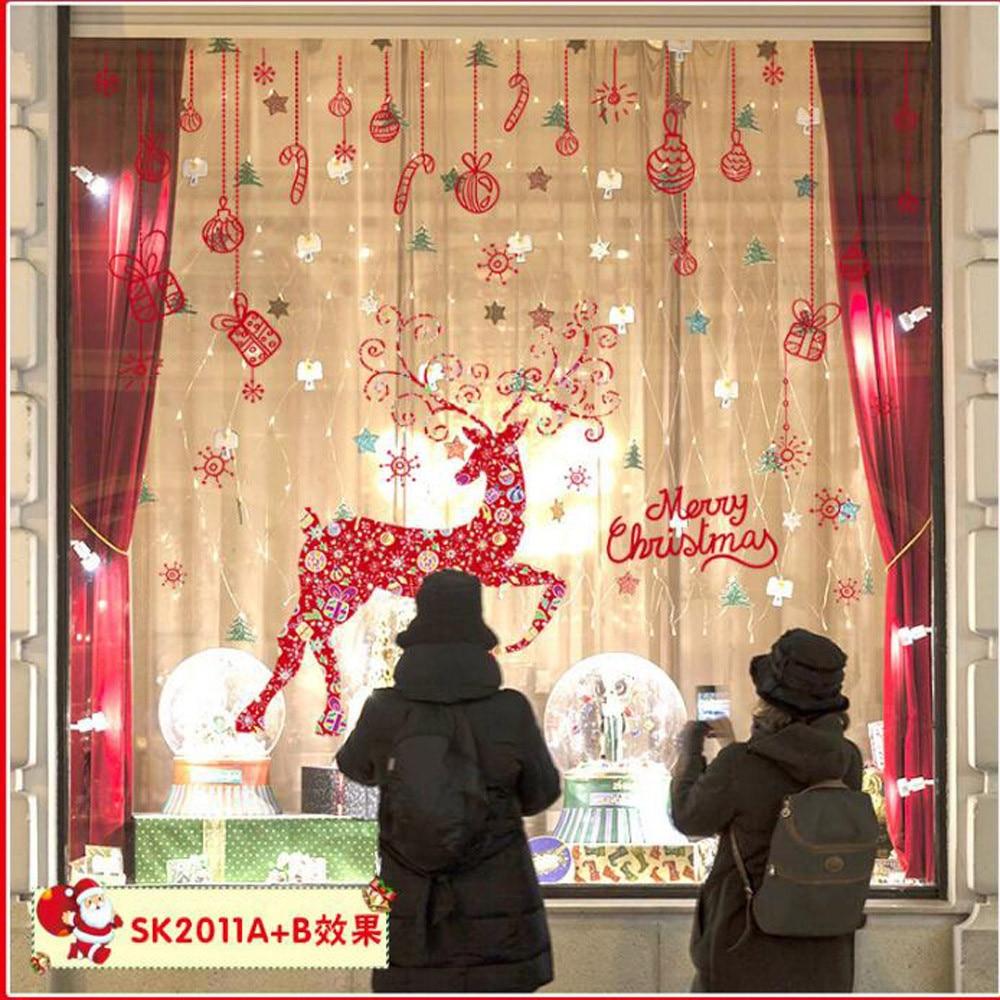 Aliexpress Com Buy Merry Christmas Window Double Sided