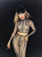 새로운 섹시한 3D 인쇄 전체 모조 다이아몬드 꽉 바디 바지 여성