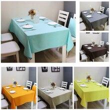 140*180 CM moderno color puro paño de tabla mesa redonda de color Liso lona Impresa mantel A Prueba de agua Del Banquete de Boda decoración