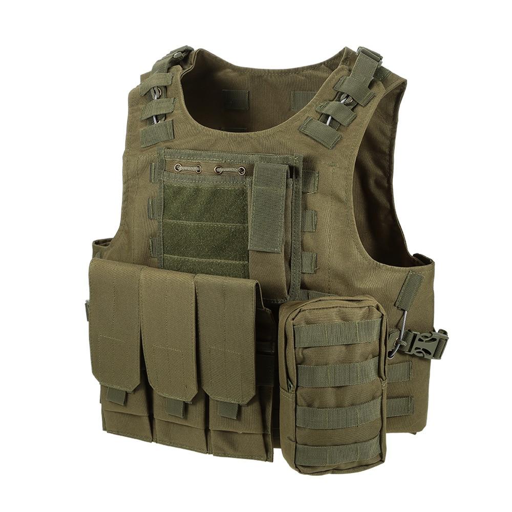 Airsoft militar tático colete molle combate assalto placa transportadora colete caça com mag malotes coletes de caça