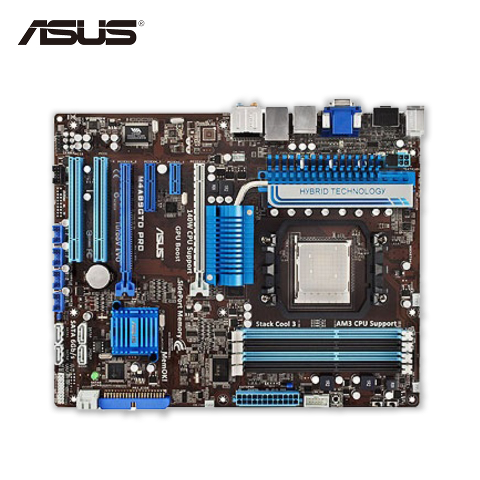 Asus M4A89GTD PRO Desktop Motherboard 890GX Socket AM3+ DDR3 16G SATA2 USB2.0 ATX original used desktop motherboard for asus m4a88t m a88 support socket am3 4 ddr3 support 16g 6 sata2 uatx