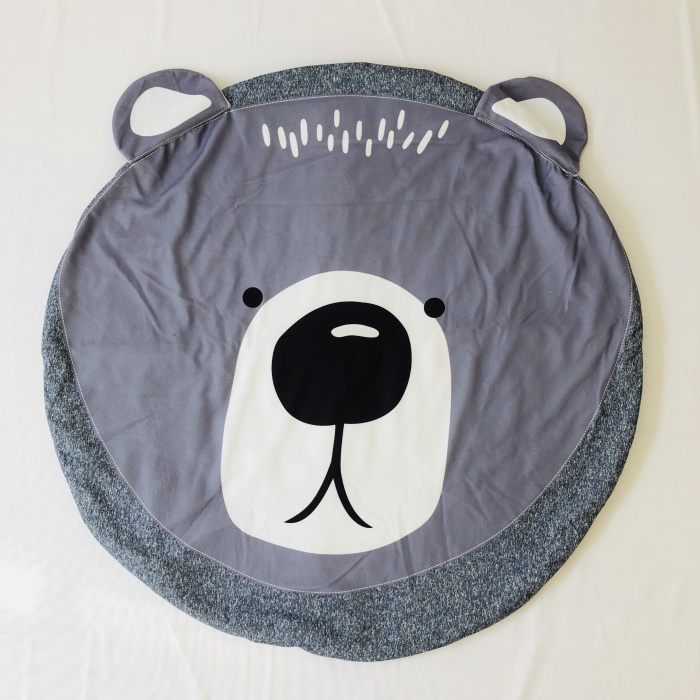 95 см детская игра коврики круглый коврик, мат хлопок Лебедь Ползания одеяло пол ковер для детской комнаты украшения INS подарки для малышей - Цвет: bear black 90cm