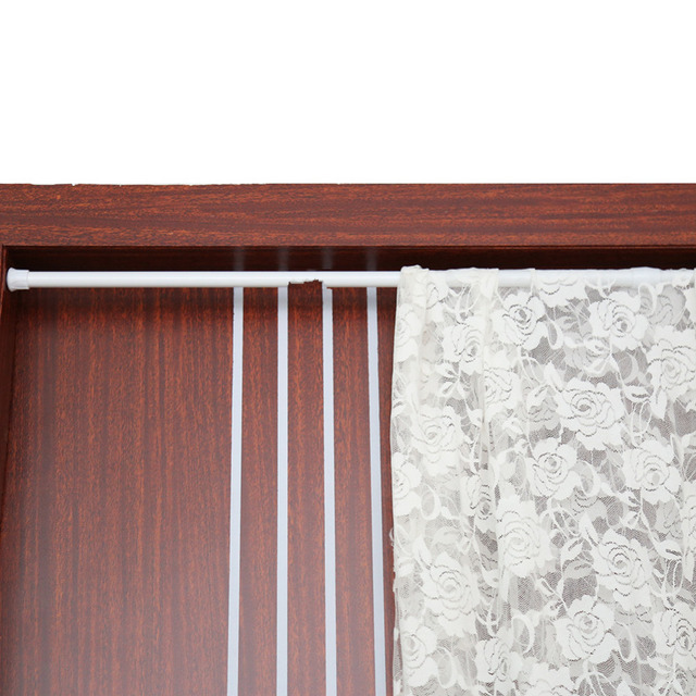 w Extendable Spring Telescopic Shower Bathroom Window Curtain Rail Loaded Pole Rod 55-90cm