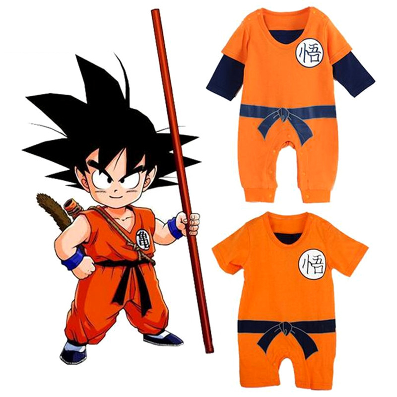 New Dragon Ball Baby Rompers Newborn Baby Boys Clothes SON GOKU Toddler Jumpsuit Bebes Halloween Costumes Baby Boy Girl Clothing 2017 new fashion cute rompers toddlers unisex baby clothes newborn baby overalls ropa bebes pajamas kids toddler clothes sr133