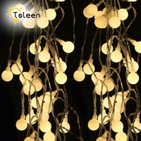 4 סטים 7 M 50 כדורים LED אורות מחרוזת אור Led קישוט החתונה מסיבת חג פנסי פטיו גן אורות שמש מופעל