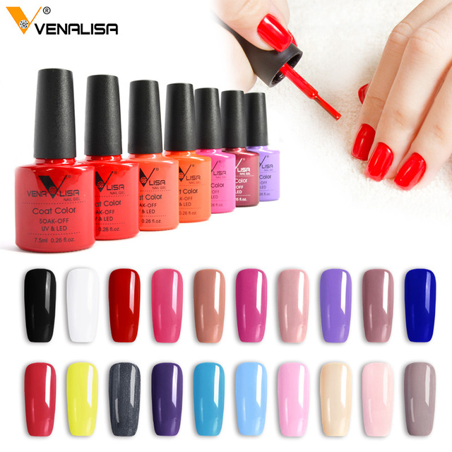 2019 new brand Venalisa hot sell soak off uv gel 60colors 7.5ml supper shinning Christmas mirror effect nail gel polish lacquer