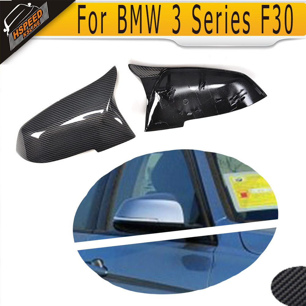 3 Series Carbon Fiber Side Mirror Covers for BMW F30 F31 2012-2015 F34 GT 2014-2016 left driving Not Fit M Car carbon fiber w205 car side mirror box cover shield fit for benz w205 left driving 2014up