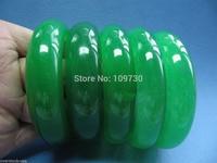 00937 [WHOLESALE] PERFECT CHINESE GREEN JADE BANGLE (5PCS/LOT)