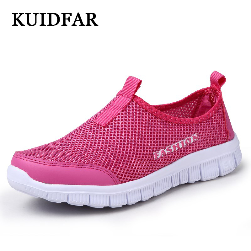 KUIDFAR Women Casual Shoes New Arrival Women's Shoes Fashion Air Mesh Vulcanize Shoes Women Summer  Female tenis sneakers