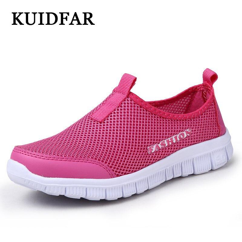 Kuidfar женская повседневная обувь Новое поступление; женская обувь мода сетки воздуха вулканизируют Обувь Для женщин летние женские теннисные кроссовки