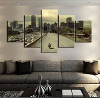 5 Panel Modern Canvas Print Movie Walking Dead Landscape Poster Home Decor Wall Art Canvas Painting