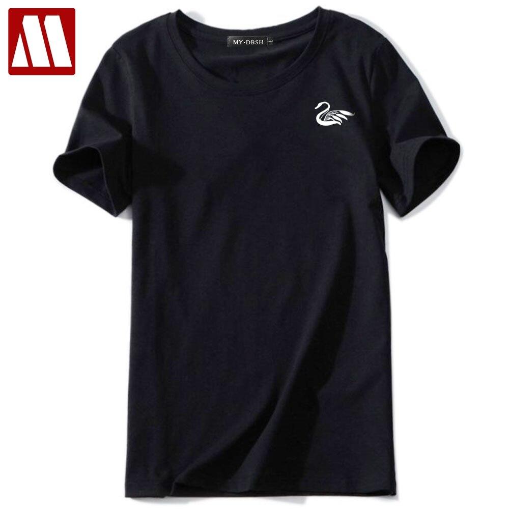 0deee63beeac US $6.88. US $12.51. -45%. NEW. Plus size Swan Printing cotton women Tshirts  ...