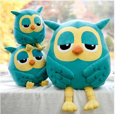20CM לילה ינשוף פופולרי קטיפה צעצוע תינוק צעצועים ממולא בעלי החיים בובת רך תינוק יום הולדת מתנות ילדים צעצוע