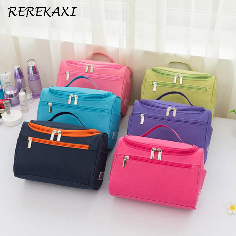 REREKAXI Women's Men's Waterproof Cosmetic Bag Large Capacity Travel Organizer Makeup Bag Toiletries Storage Bags