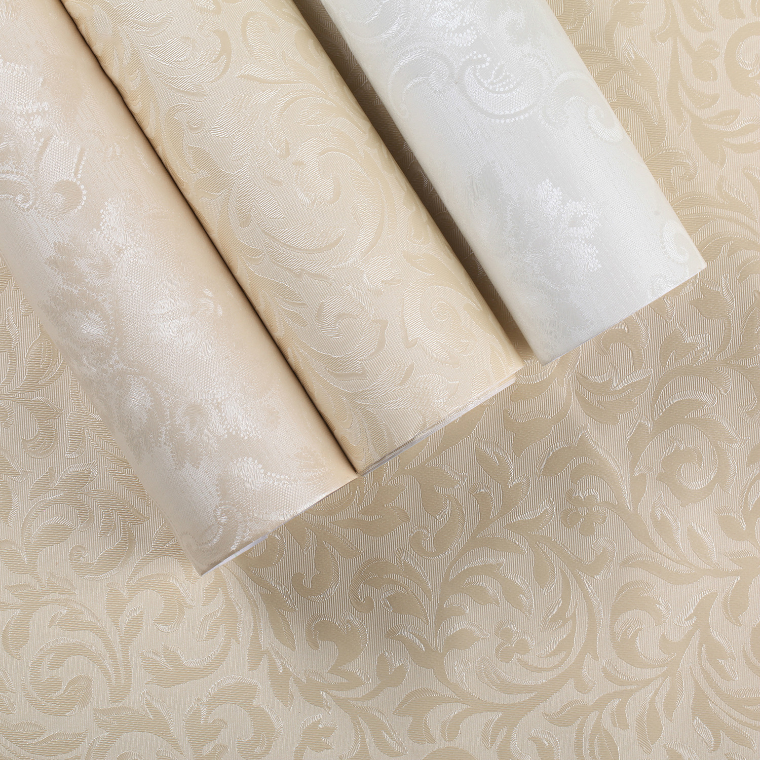 60*100cm Self-sticking Classical European Style Non Woven Wall Paper Roll Wallcovering Luxury Floral Wallpaper For Bedroom Walls