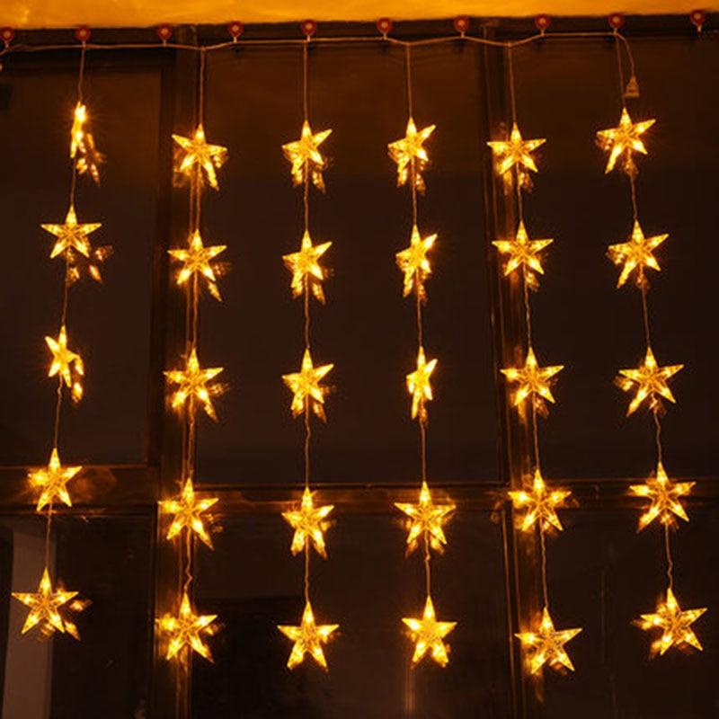 Svelta 1.5*1.5 м 1600 лампы светодиодный Фея Звезда Шторы огни gerlyanda гирлянды Рождественские огни строку украшения для праздника декор