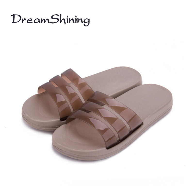 DreamShining New  Bathroom Shower Skid Slippers Home Interior Plastic Flooring Summer Sandals Slippers Men And Women Couple the new 2017 indoor home slippers men and ladies bathroom slippers couple slip bath home heavy bottomed plastic sandals and