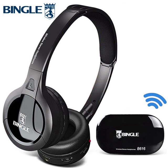 Bingle B616 Vedio Audio Studio HIFI 3D Surround Head Phones Stereo Wireless Headphones Headsets For TV,PC,DVD,Phone,Silent Disco