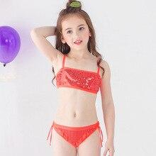 Girls Bikini 2019 Summer Children Swimsuit Kids Two Pieces Swimwear Beach Bikini Set Girls Hot Spring Bathing Suits 2-12 Years
