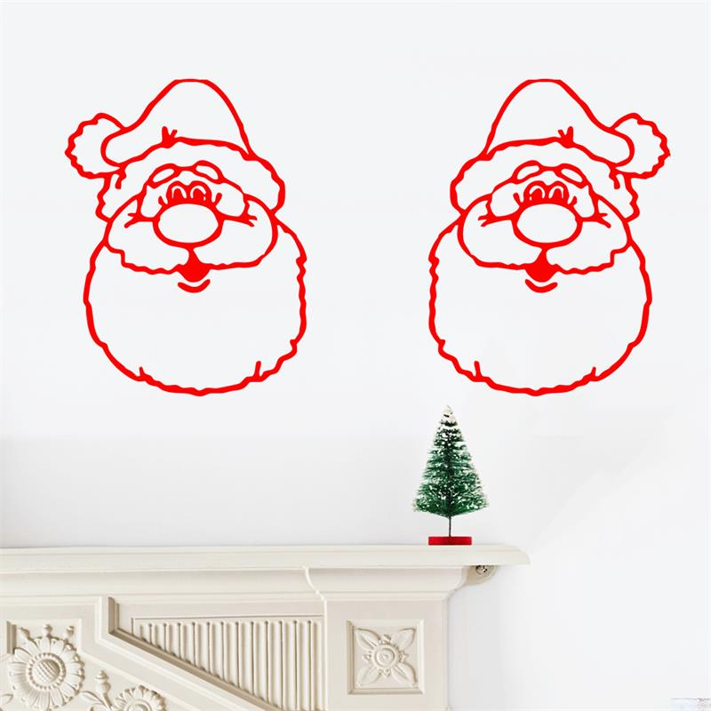 santa claus merry chtistmas wall sticker window glass sticker new year party decoration store wallpaper - Party Decoration Stores
