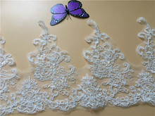 9Yards Wedding Lace Trim Embroidery Applique Motif Floral Bridal Accessory Free Shipping