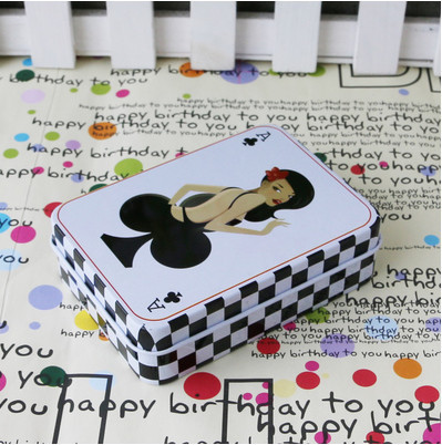 Candy Packaging Box Birthday Gift Card Tin Small Rectangular Jewelry Debris Storage Desktop Office Supplies