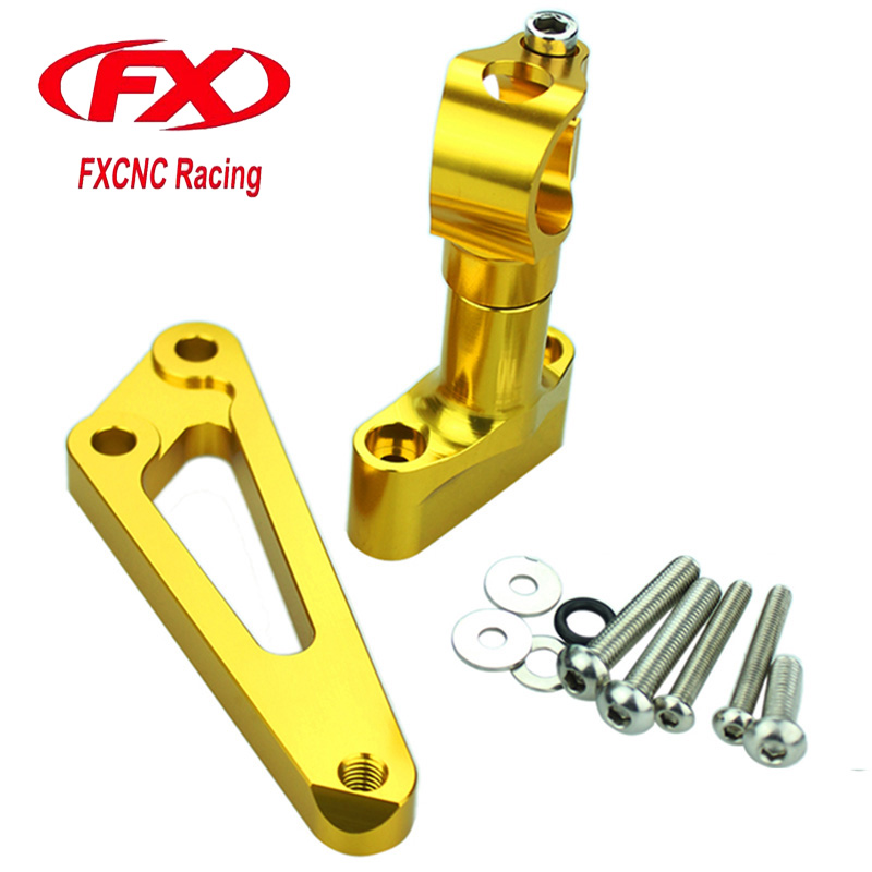 FX Motorcycle Adjustable Steering Stabilize Damper Bracket Mount Kit For HONDA CB 600F CB600F HORNET 2007-2010 2011-2016 for honda cb400 2005 2016 cb600f hornet 1998 2000 cb750 2007 motorcycle windshield windscreen pare brise black