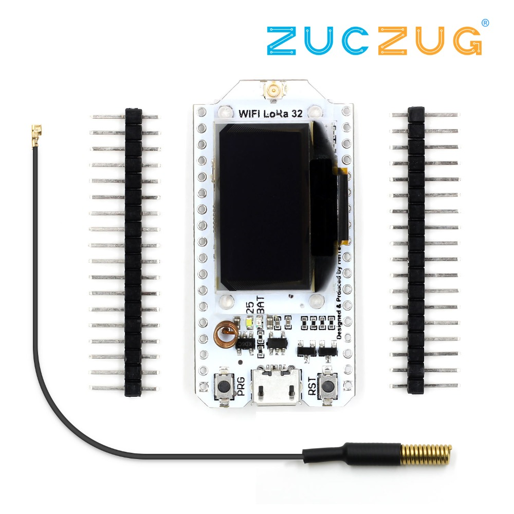 SX1278 LoRa ESP32 0.96 inch Blue OLED Display Bluetooth WIFI Lora Kit 32 Module Internet Development Board 433mhz for ArduinoSX1278 LoRa ESP32 0.96 inch Blue OLED Display Bluetooth WIFI Lora Kit 32 Module Internet Development Board 433mhz for Arduino