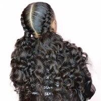 Предварительно сорвал Full Lace человеческих волос парики с ребенком волосы 150% бесклеевого свободные ткань парик для Для женщин Вы может Реми в