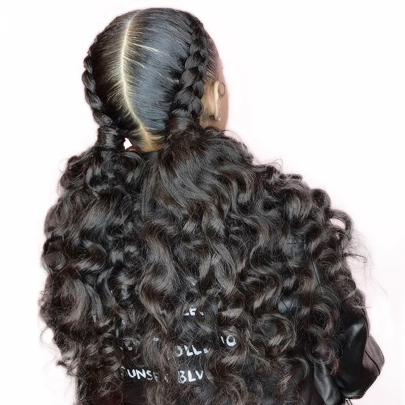 Pre Plucked Full Lace Human Hair Wigs Bleached Knots With Baby Hair 180 Percents Density Loose Weave Indian Hair Wig Virgin You May by You May