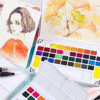 Акварель 12 24 30 36 40 цвета пигмент Твердые акварельные набор красок цветные карандаши для рисования краски воды цвета товары для рукоделия