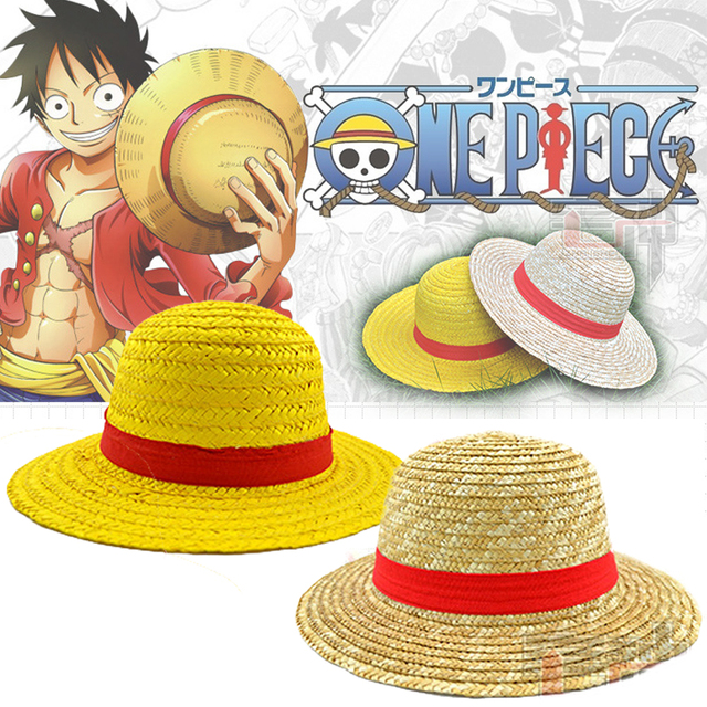 58eae7b5ad3 Classic Memory One Piece Luffy Japanese Anime Cosplay Straw Hat Boater  Beach Hat Cartoon Cap Halloween Gift