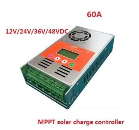 Écran lcd 60A MPPT de Charge Solaire Contrôleur 12 V 24 V 36 V 48 V auto travail pour système solaire 30A 40A 50A