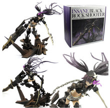 29cm Insane Black Rock Shooter BRS Anime Animation Action Figure Office Hand Scale Painted PVC Model Toys Dolls Gift Decoration недорого