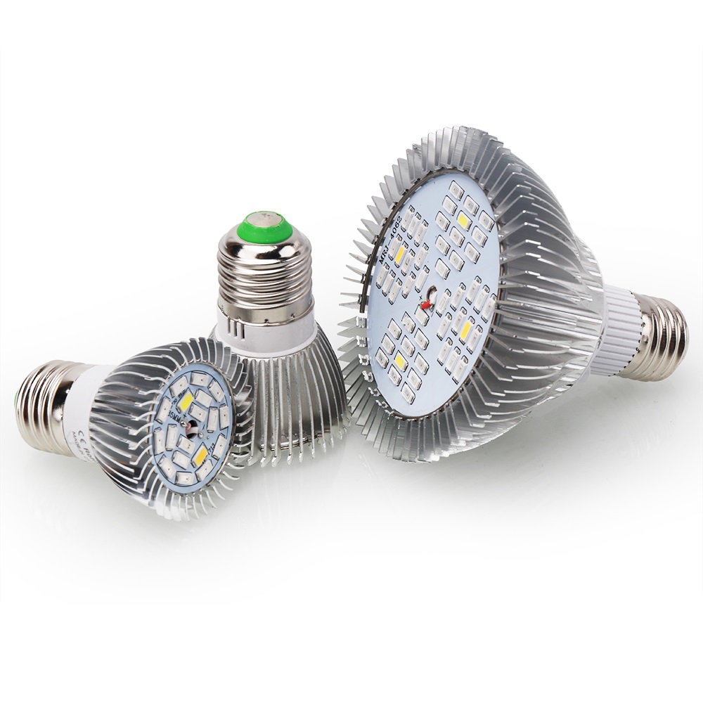 [4pcs/Pack] LED Grow Light E27 18LED 28LED 48LED Full Spectrum UV IR Grow Lamp Garden Flowers Plants Indoor Hydroponics System