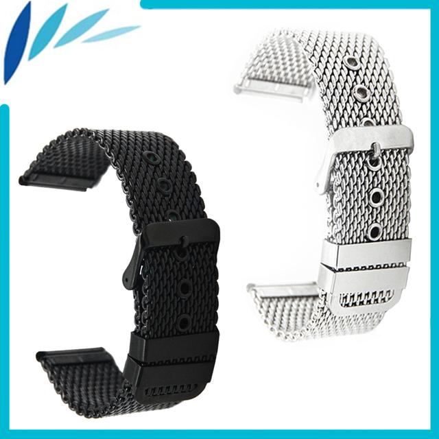 Stainless Steel Watch Band 20mm 22mm for CK Calvin Klein Pin Clasp Strap Wrist Loop Belt Bracelet Black Silver Men Women + Tool