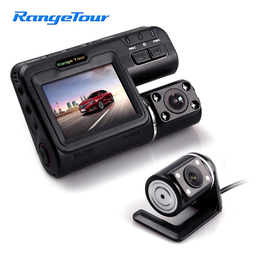 Range Tour Car DVR Camera i1000s 2LCD G Sensor Motion Detection HD 1080P 8 IR Lights Dual Lens Dash Cam