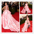 MGC19 Hot Sell Elegant Celebrity Dresses 2015 Met Gala Pink Kate Hudson Ball Gown Evening Gowns Party Dresses robe de soiree