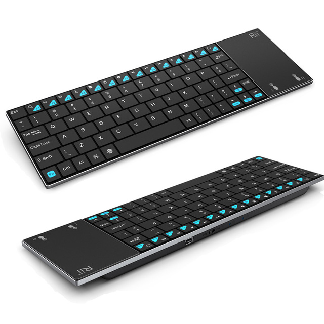 Rii mini i12  Multifunction Wireless 2.4G Keyboard QWERTY Touchpad Ultra Slim Keyboards for Sony PS3 HTPC Android TV BOX PC Pad