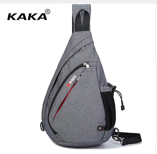 KAKA Men Messenger Bag Shoulder Bag Men Chest Pack Bag 17L Canvas Day Pack 19L Cross Body Back Pack Men's Chest Shoulder Bag