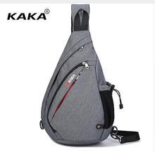 KAKA sac à bandoulière en toile pour hommes, sacoche à épaule de poitrine 17l, sac jour 19L