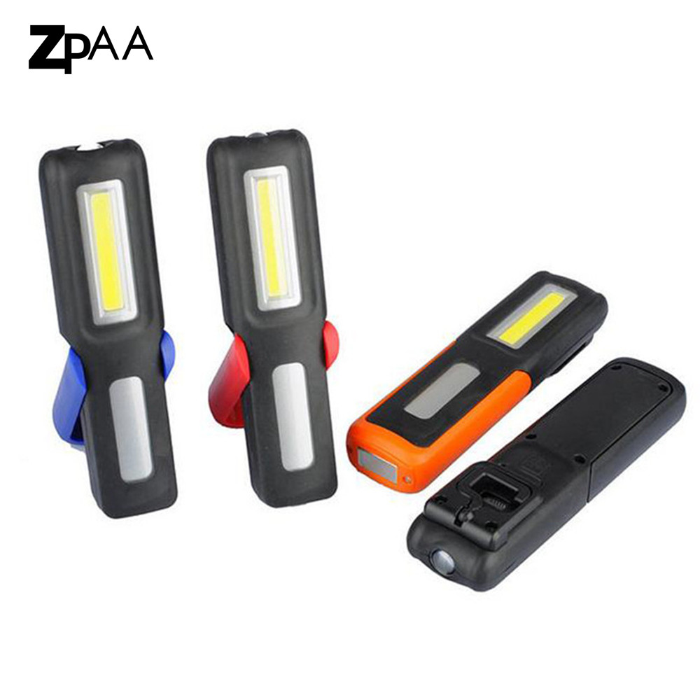 ZPAA COB USB Rechargeable Work Light Lamp LED USB Flashlight Portable Torch Magnetic LED Work Lights Lighting Built in Battery zpaa 2017 portable 3w cob led camping work inspection light lamp usb rechargeable pen light hand torch with usb cable