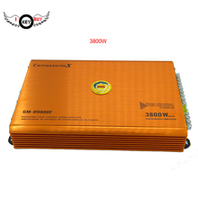I Key Buy 12V 3800W Car Amplifier Audio Power Stereo 4 Channel Powerful Aluminum Alloy Car Sound Amplifiers Booster Orange