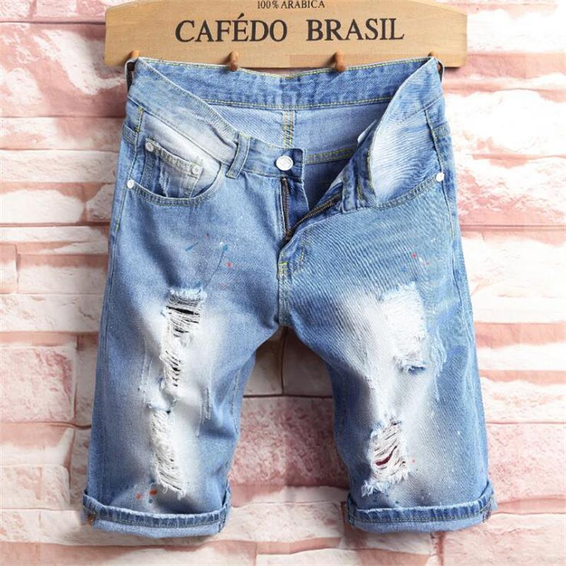2018 new man summer Short jeans hot sale ripped jeans for men high quality Male Casual fashion classic jeans men #2016-1