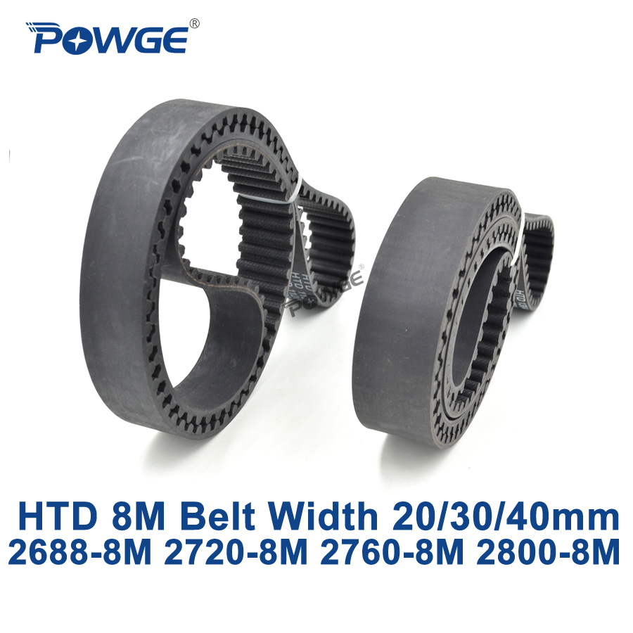 POWGE HTD 8M synchronous Timing belt C=2688/2720/2760/2800 width 20/30/40mm Teeth 336 340 345 350 HTD8M 2720-8M 2760-8M 2800-8M powge htd 8m synchronous belt c 520 528 536 544 552 width 20 30 40mm teeth 65 66 67 68 69 htd8m timing belt 520 8m 536 8m 552 8m