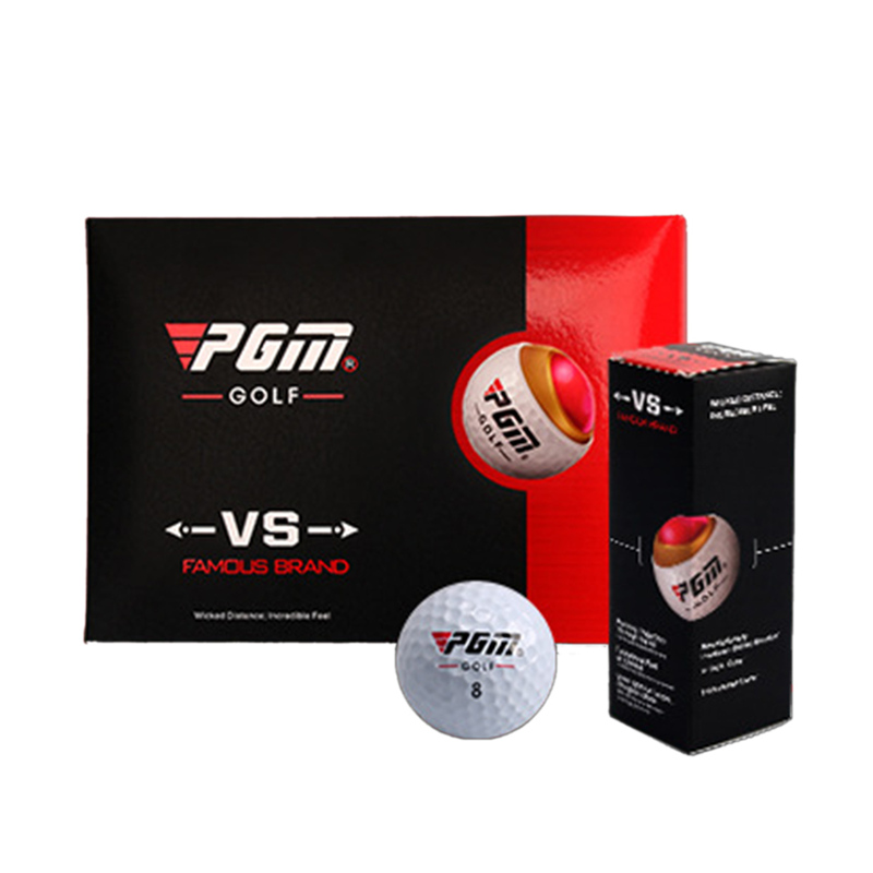 PGM Brand Golf Balls Three-layer Match Ball Gift Box Package Golf Ball Set 12pcs Set 3pcs Set Game Use White Balls Golf Sport