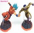 [Bainily] Azul Super Saiyan Goku Son Goku de Dragon Ball Z PVC Figuras de Acción Colección Modelo Juguetes Muñecas Regalos