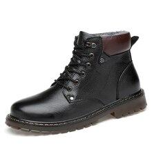 Из натуральной нешлифованной кожи мужские зимние сапоги Для мужчин мотоцикл обувь на меху открытый до середины икры Снегоступы размер 38-48 Цвет чёрный; коричневый