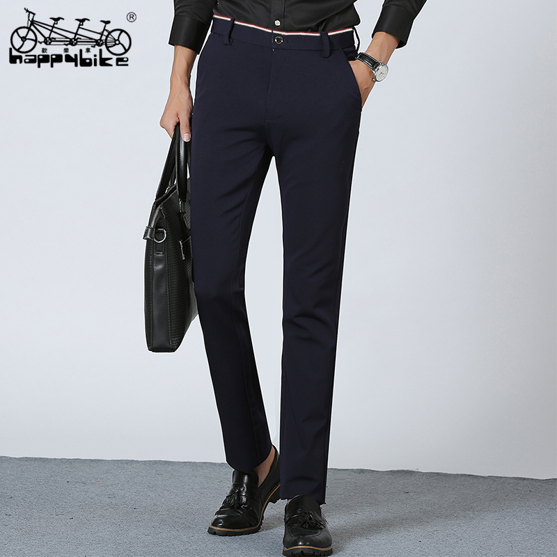HappyBike 2018 Casual Pants Men Soft Male Trousers In Spring/Summer Slim Long Pants In Work High Quality Clothing Wholesale