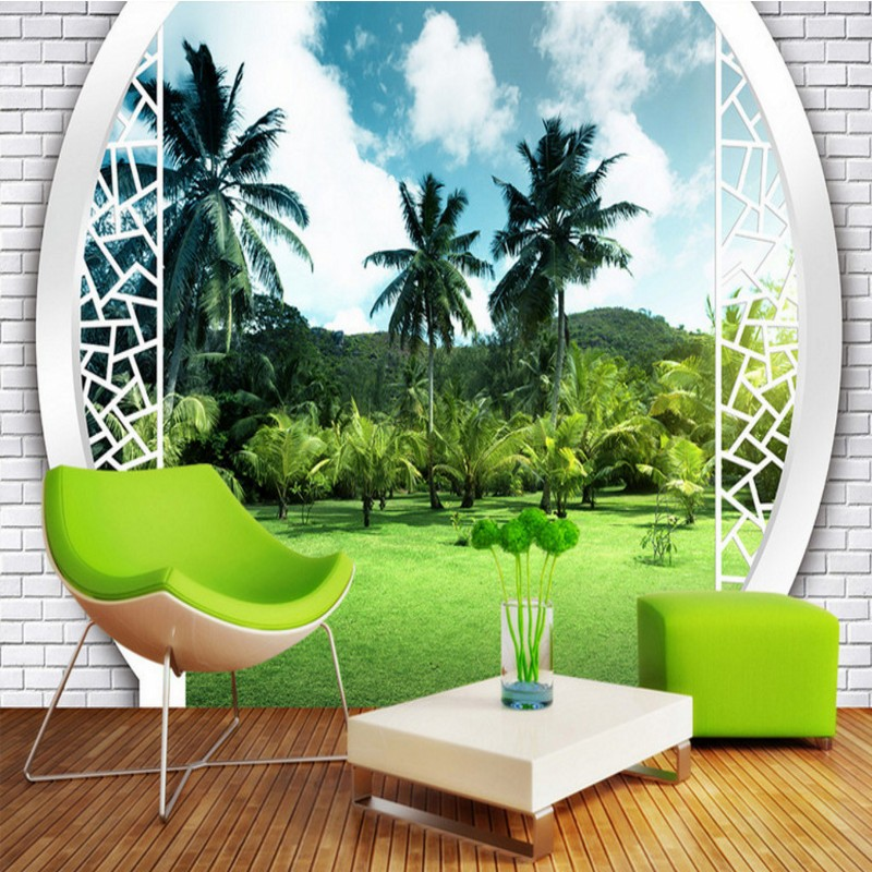 Free Shipping Forest Park 3D Landscape Background Wall Pictures bathroom home decoration wallpaper mural living room bedroom  free shipping retro female star mural background wall bathroom studio home decoration artistic studio bedroom wallpaper